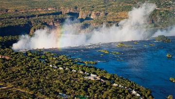 Botswana et chutes Victoria
