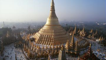 Le Rocher d'or et l'Irrawaddy